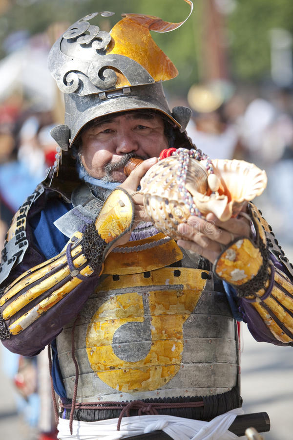 Nisei Week Samurai royalty free stock image