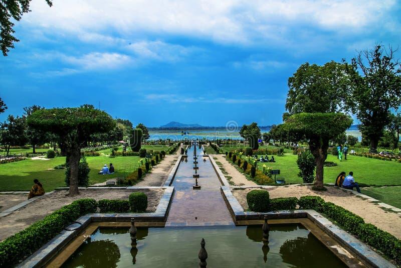 Nishat-Garten Srinagar Indien stockfotografie