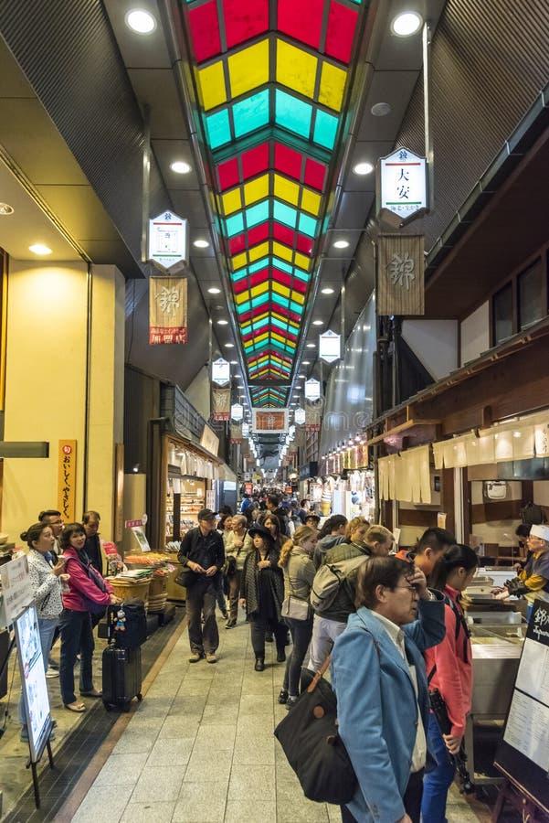 Nishiki rynek Kyoto Japonia zdjęcia stock
