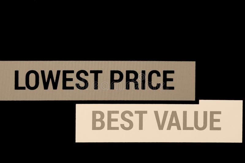 Niska cena i najlepszy wartość dla produktów, usług/ fotografia royalty free