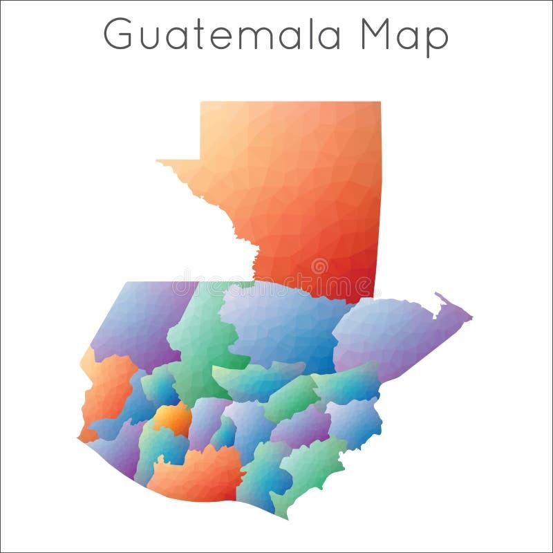 Niska poli- mapa Guatemala royalty ilustracja