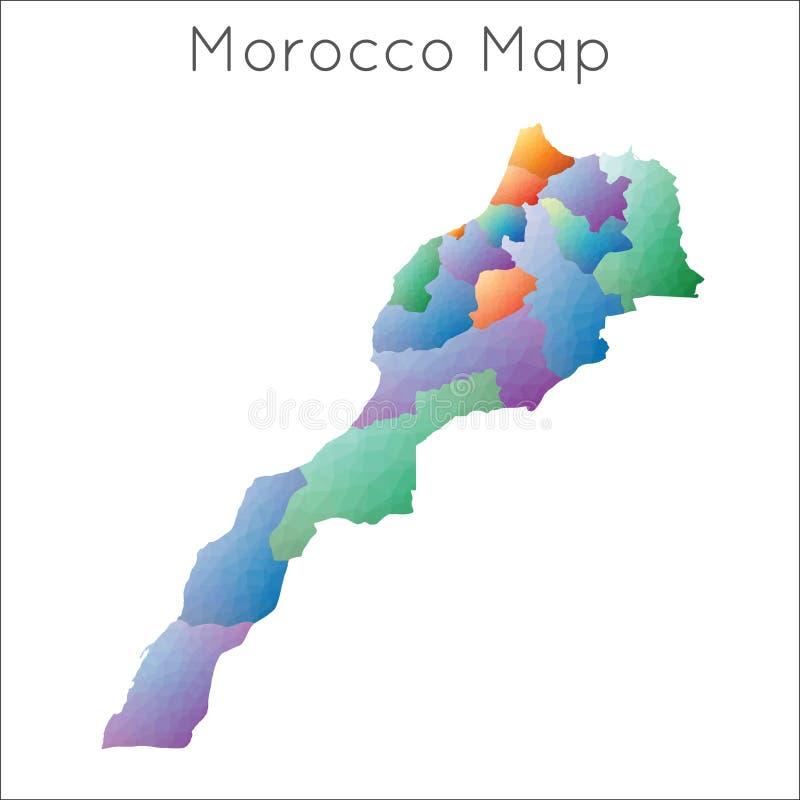 Niska poli- mapa Morocco royalty ilustracja