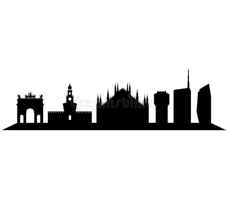 Niski światło na Milan linii horyzontu obraz royalty free