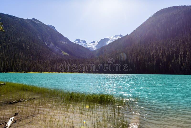 Niski Joffre jezioro, Joffre prowincjonału Jeziorny park, BC, Kanada zdjęcia stock