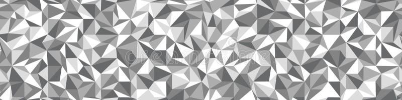 Niski Poli- czarny i biały bezszwowy tło ilustracja wektor