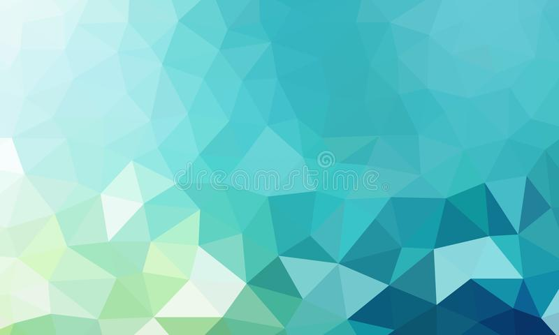 Niski poli- tło cyraneczki kolor ilustracja wektor