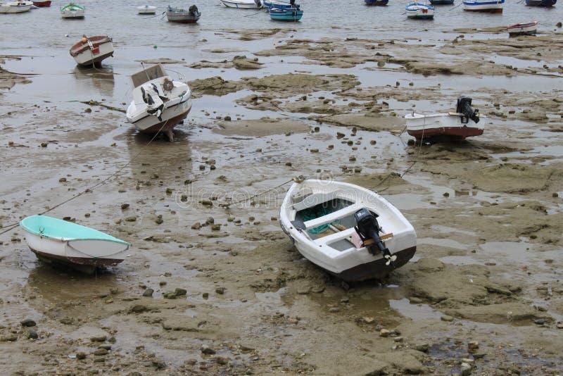 Niski przypływ przy Cadiz obraz stock