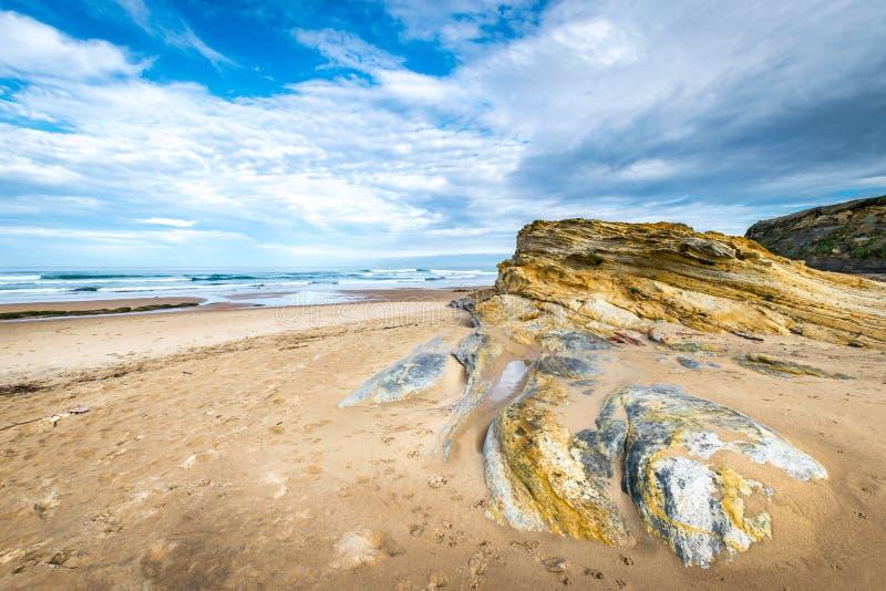 Niski przypływ w Cantabrian morzu fotografia royalty free