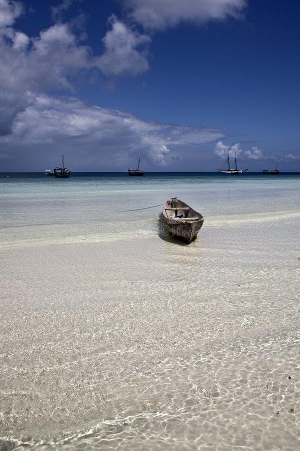 niski przypływ Zanzibar zdjęcia stock