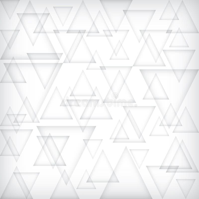 Niski wielobok szarość sztandar Delty popielaty blokowy tło Trójboka cienia gradientowa tapeta royalty ilustracja