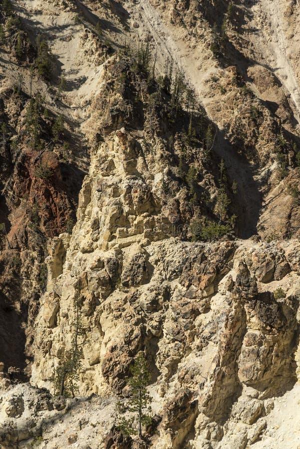 Niski Yellowstone Spada dolinne falezy blisko artysty punktu zdjęcia stock