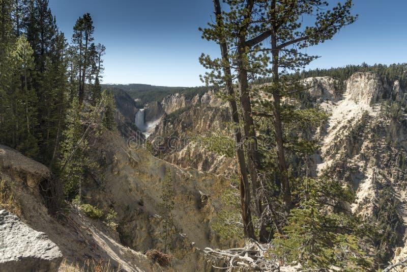 Niski Yellowstone Spada od artysty punktu zdjęcia stock