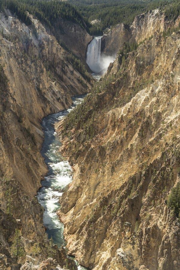 Niski Yellowstone Spada od artysty punktu fotografia royalty free