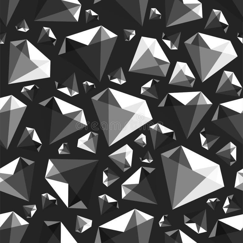 Niskiego poli- klejnotu wektoru diamentowy bezszwowy wzór ilustracji