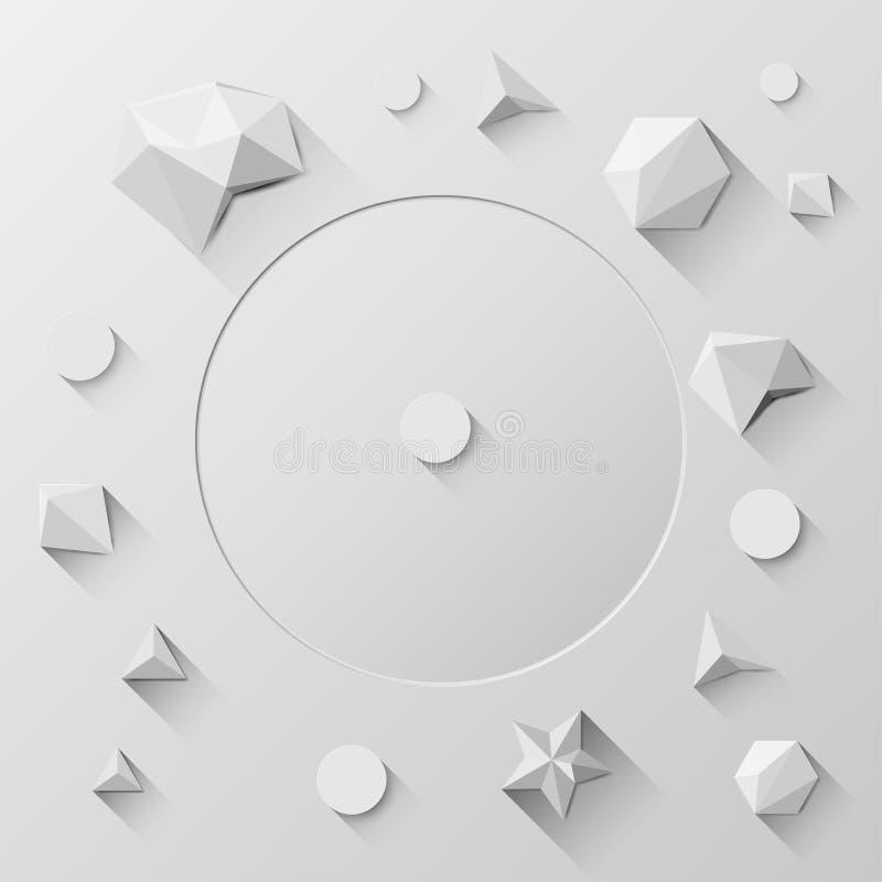 Niskiej wielobok geometrii Abstrakcjonistyczny tło, wektor ilustracji