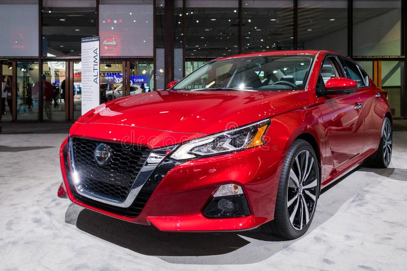 Nissan Altima on display during Los Angeles Auto Show royalty free stock photography