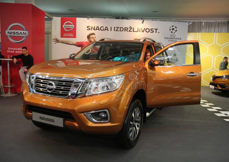 Nissan an Belgrad-Car Show lizenzfreie stockfotos