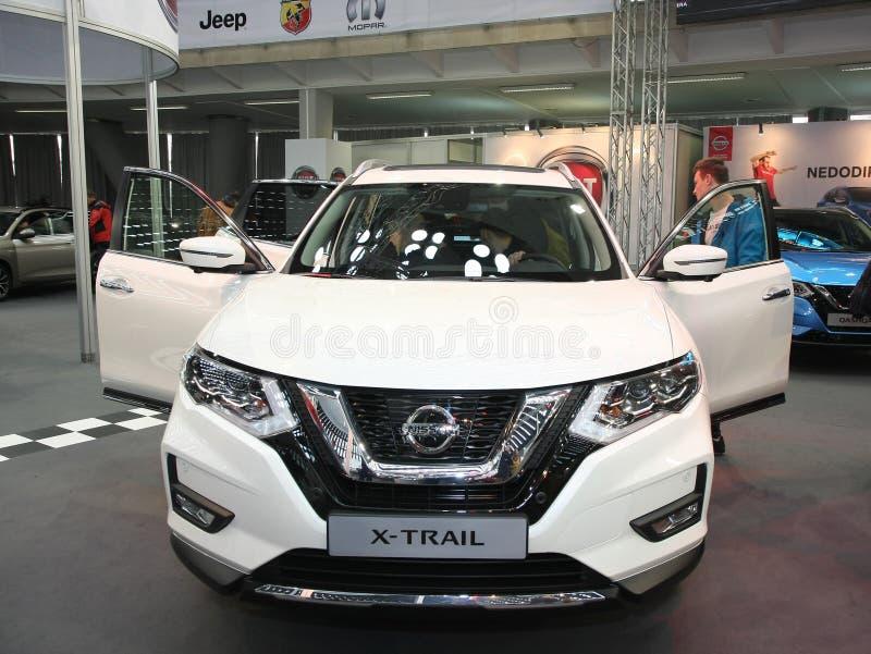 Nissan an Belgrad-Car Show stockbild