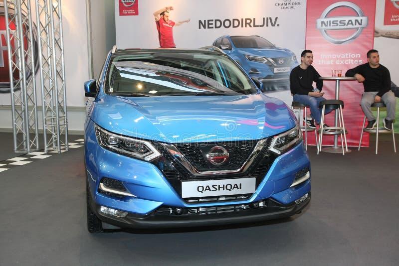 Nissan an Belgrad-Car Show lizenzfreies stockbild