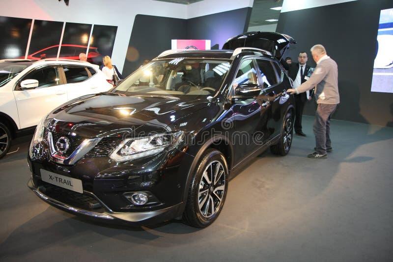 Nissan an Belgrad-Car Show lizenzfreie stockbilder