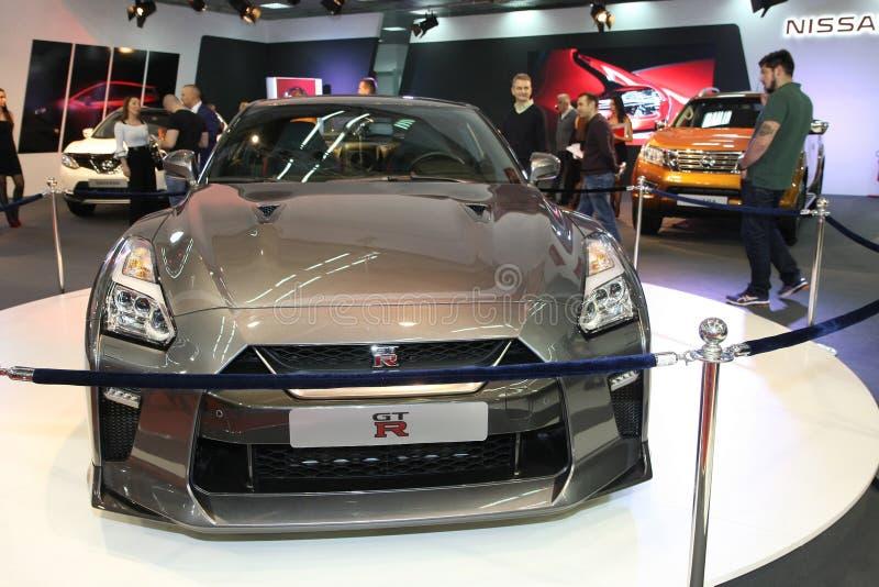 Nissan an Belgrad-Car Show lizenzfreies stockfoto
