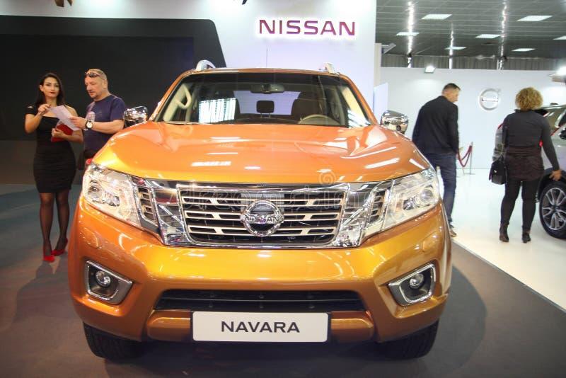 Nissan an Belgrad-Car Show stockfotos