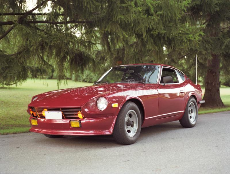 Nissan Datsun 240Z. A vintage retro sports coupe from the early 1970`s stock image