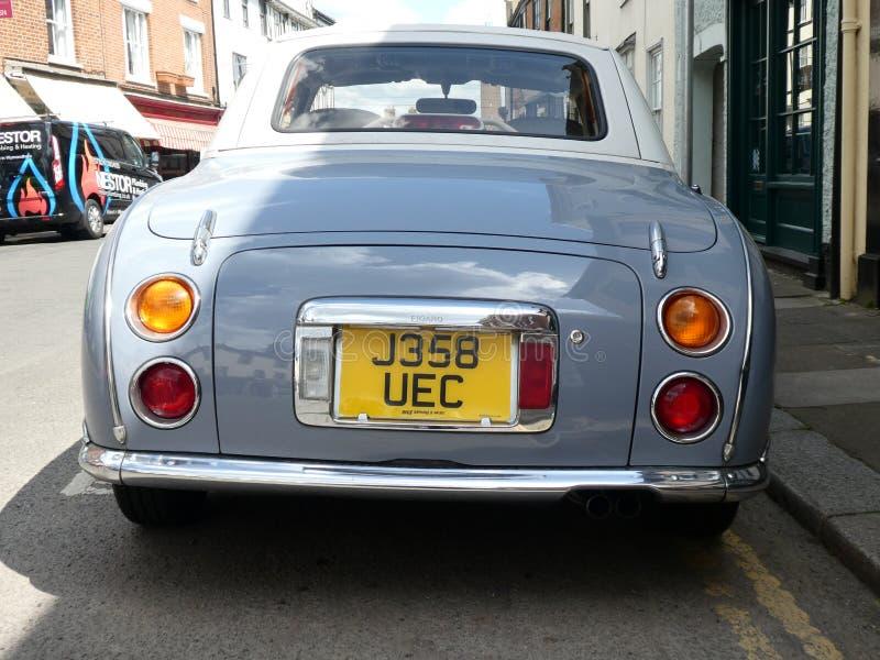 Nissan Figaro Car d'annata, Norwich, Norfolk, Regno Unito fotografia stock libera da diritti