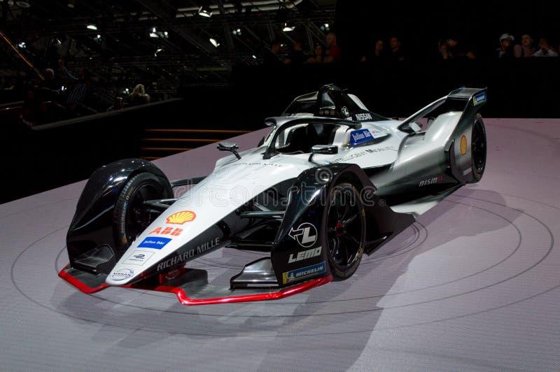 Nissan Formula E at Geneva 2019 stock images