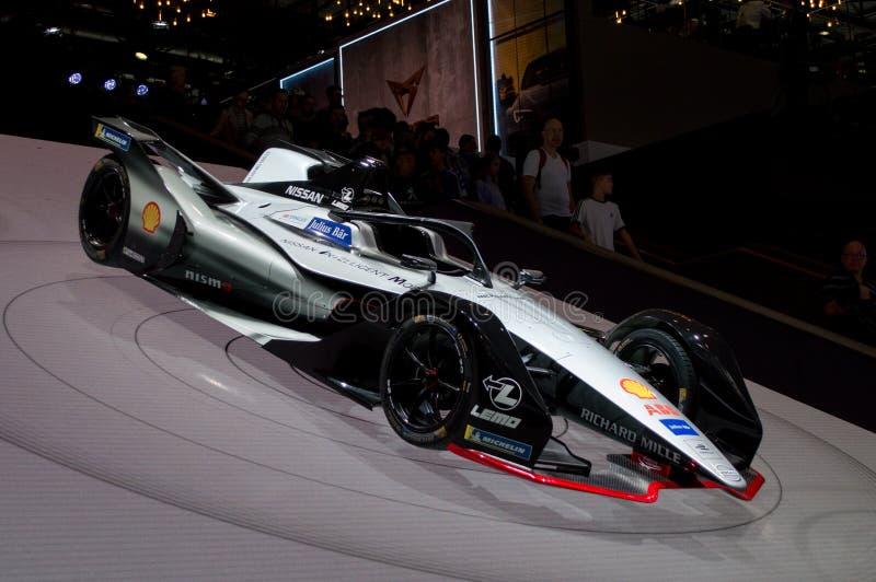Nissan Formula E at Geneva 2019 royalty free stock photos