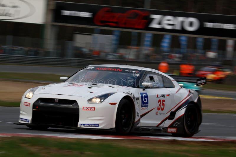 NISSAN GT-R(FIA GT). FIA GT Round.8=FINAL; Circuit Zolder(BELGIUM) Sunday Race; October 25th 2009. GT1 Class No.35. Darren TURNER(GBR)/Michael KRUMM(GER)#NISSAN royalty free stock photography