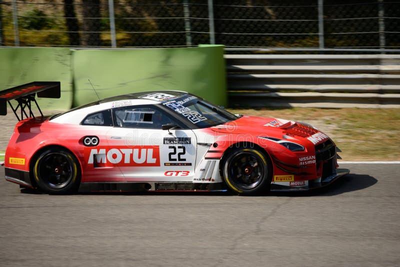 Nissan GT-R Nismo GT3 no circuito de Monza foto de stock