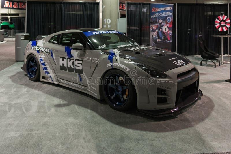 Nissan GT-R personalizado na exposição imagem de stock royalty free