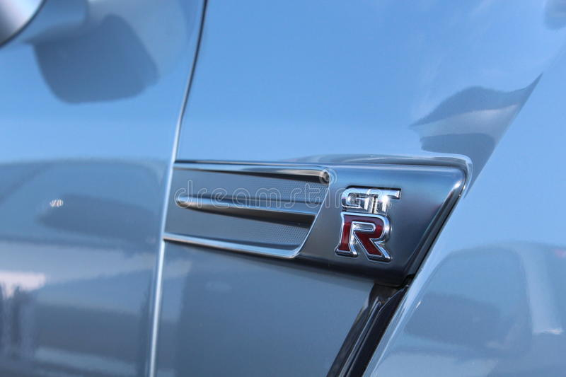 Nissan GT-R sign stock image