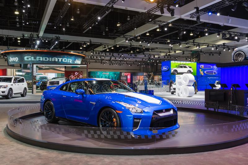 Nissan GT-R 50th Anniversary Edition  on display stock image