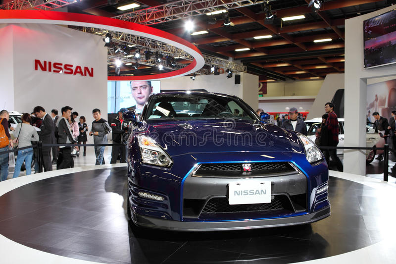 Nissan gtr r35 royaltyfria foton