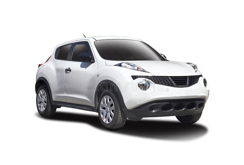 Nissan Juke. White isolated on white stock images