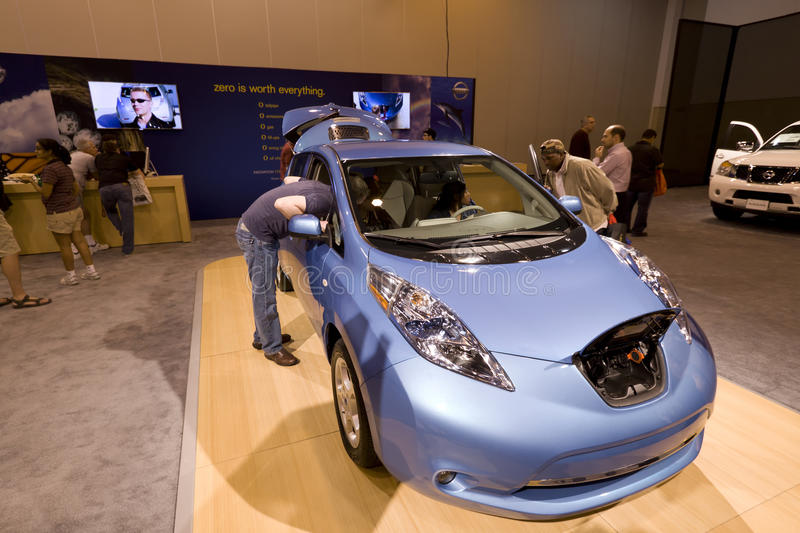 Download Nissan Leaf editorial stock image. Image of automotive - 23372444
