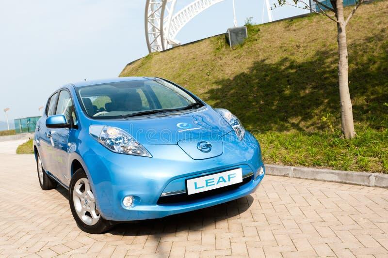 Nissan Leaf fotos de stock royalty free