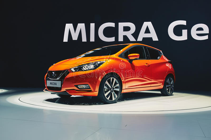 Nissan Micra 2017 photographie stock