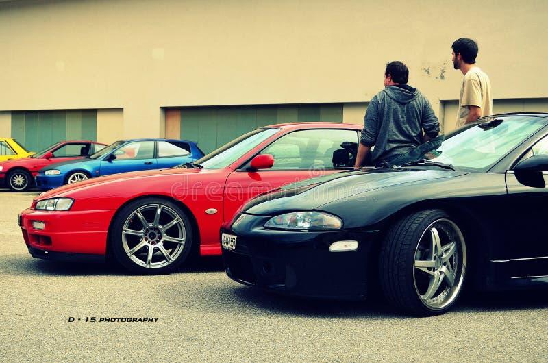 Download Nissan and mitsubishi stock photo. Image of 200sx, aarburg - 86218572