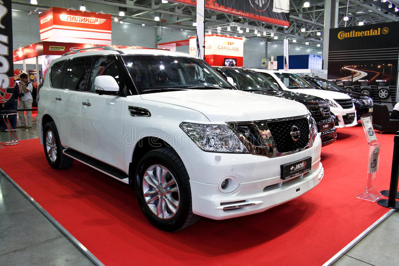 Nissan Patrol tuning JAOS. MOSCOW - AUGUST 25: Nissan Patrol tuning JAOS at the international exhibition of the auto and components industry, Interauto on August stock photography