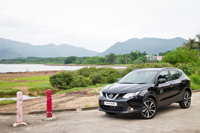 Nissan Qashqai-Probefahrt in Hong Kong lizenzfreie stockfotos