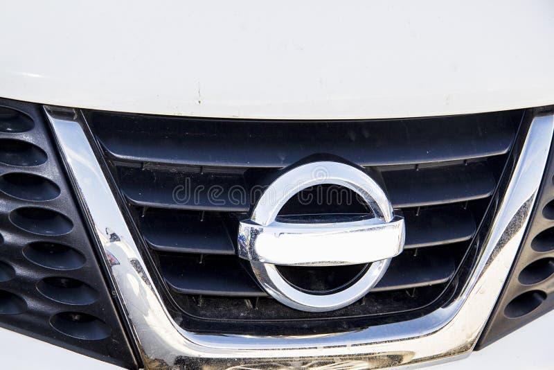 Nissan-radiatorgrill stock foto's