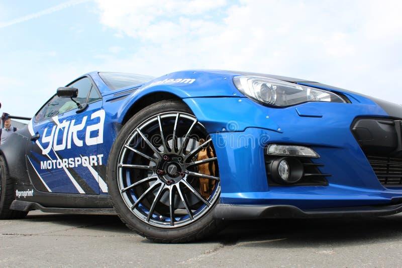Nissan Silvia przy dryftową rywalizacją Lato filiżanka fotografia stock