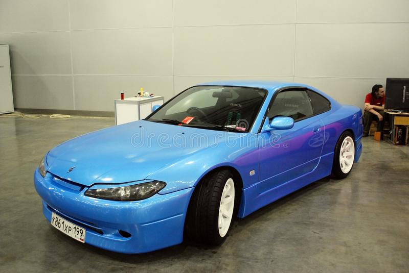 Nissan Silvia S15 in `Crocus Expo`, 2012 royalty free stock image