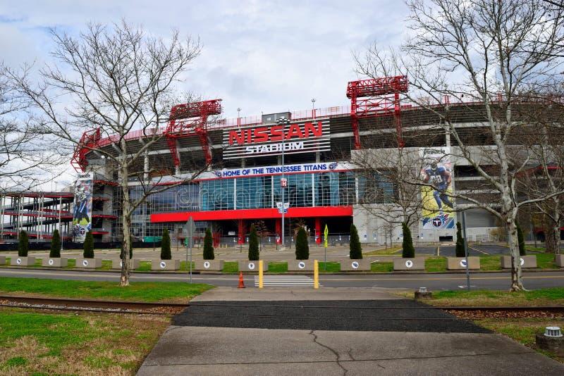 Nissan Stadium à Nashville la journée de printemps photos libres de droits
