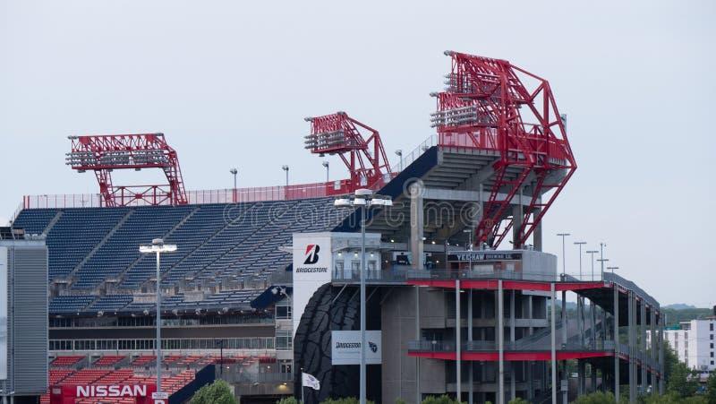 Nissan Stadium w Nashville w wieczór CZERWIEC 15, 2019 - NASHVILLE, usa - zdjęcie stock