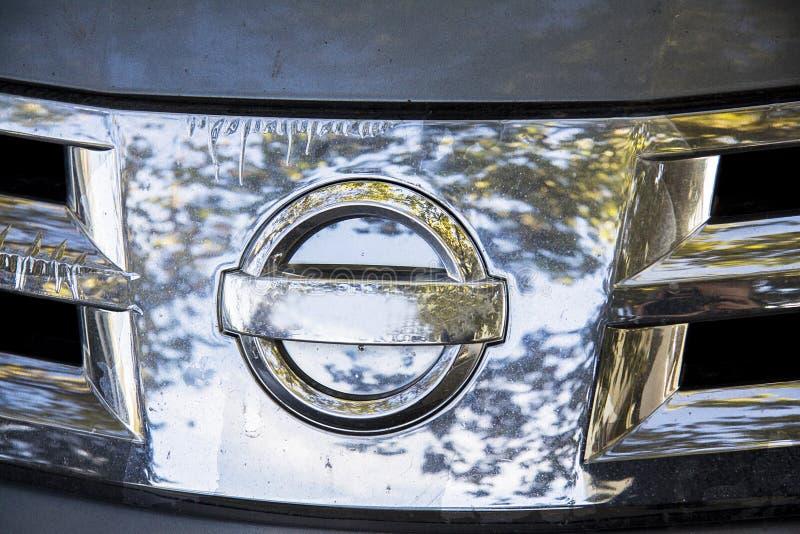 Nissan-voor de radiatorgrill van het verkennersmetaal stock afbeelding
