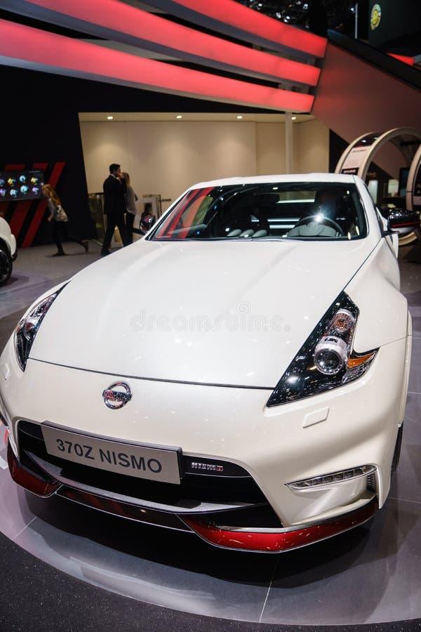 Nissan 370Z NISMO, Motorowy przedstawienie Geneve 2015 zdjęcia royalty free